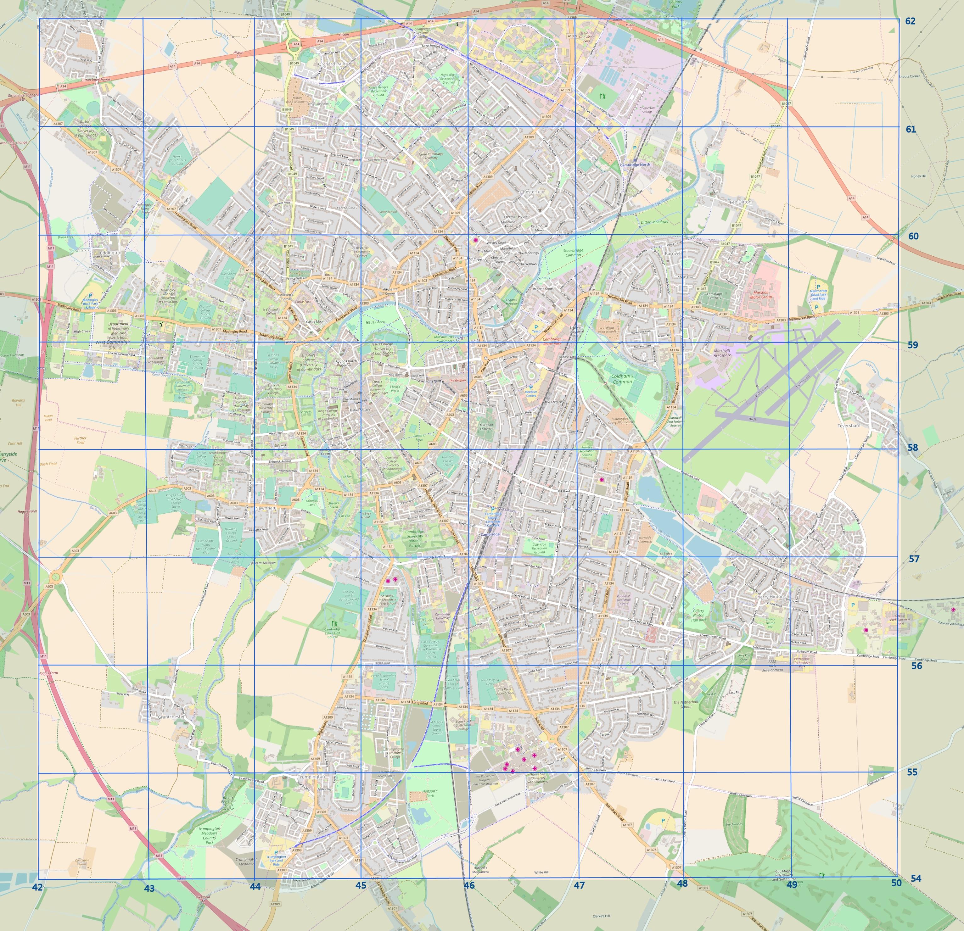 Large-scale map | CNHS Cambridge Survey